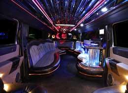 20 Passenger Hummer Interior